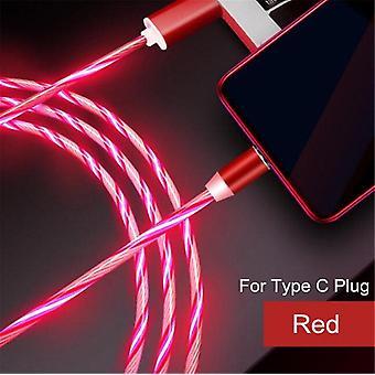 Värikäs led-valo magneettinen puhelinkaapeli nopealla latauksella