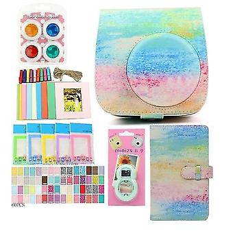 Pu Leather-bag-case With 3-inch 96-pockets Brightly-mini-film Photo-album