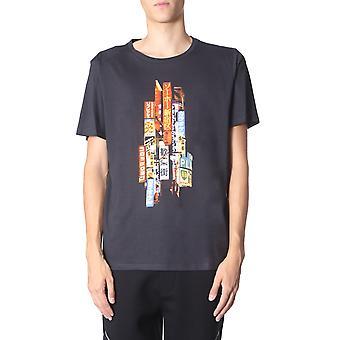 Neil Barrett Bjt609sm558s1874 Men's Black Cotton T-shirt