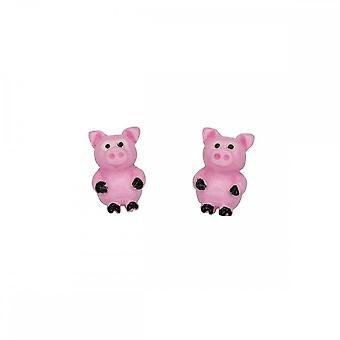 Inizio Sterling Argento A928P Piggy Stud Orecchini
