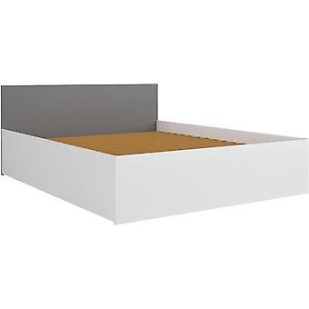 Houten bed 90x200 cm grijs - 1-persoons