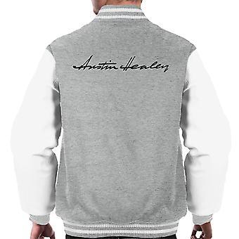 Austin Healey Handwriting Logo British Motor Heritage Men's Varsity Jacket