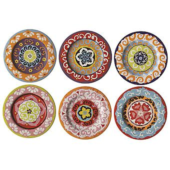 Rose & Tulipani Nador 20.5cm Salad / Side Plates, Set of 6