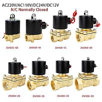 Electric Solenoid Valve Normally Closed Pneumatic For Water Oil Air