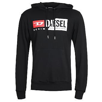 Diesel S-Girk Cuty Black Hooded Sweatshirt
