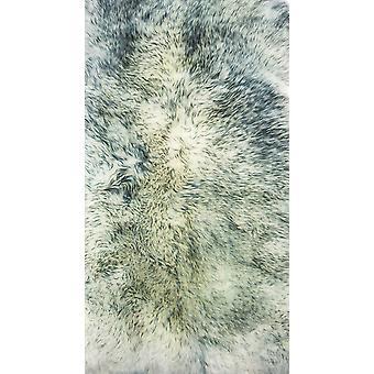 2' x 3' Grau nebel Neuseeland natürliche Schaffell Teppich