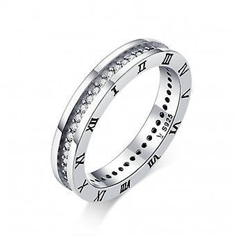 Sterling Silber Ring Römische Zahlen - 6860