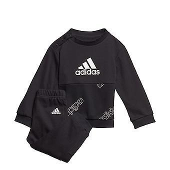 adidas Classics Infant Kids Boys Crew Tracksuit Suit Jogger Set Black