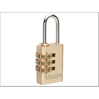 Sterling (Padlocks) 3 Dial Combination Padlock 20mm CPL120