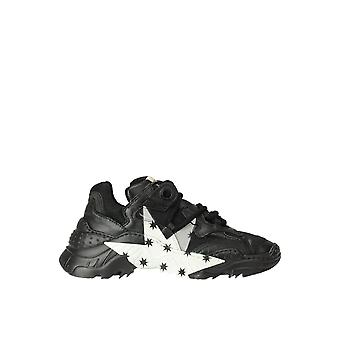 N°21 Ezgl068225 Dames's Black Leather Sneakers