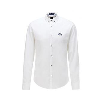 Hugo Boss Biado_r Slim Fit valkoinen paita