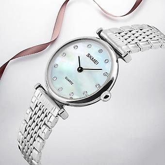 SKMEI 1223 Rhinestones Waterproof Ladies Wrist Watch Casual Style Dress Quartz