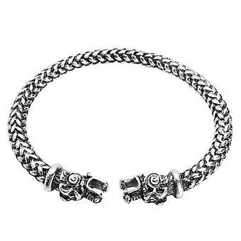 Vintage Viking Dragon Head Adjustable Norse Mythology Jormungandr Bracelet