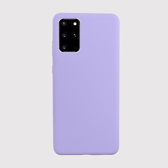 Purple liquid silicone samsung galaxy s20+ case
