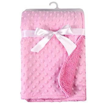 Baby Soft Minky Dot Blanket Pressure Foam Blanket, Warm Fleece Stroller Cover