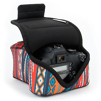 Usa gear dslr camera bag for digital camera with neoprene protection, holster belt loop and accessor wom00937
