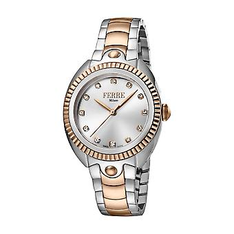 Ferre Milano Ladies Silver Dial  / RG Watch