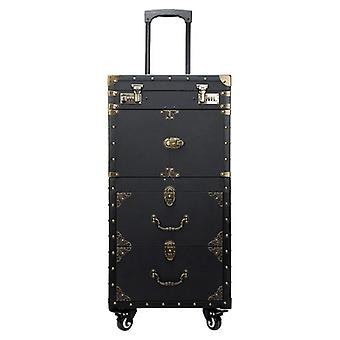Grande capacité Trolley Cosmetic Case Rolling Luggage, Nails Makeup Toolbox,