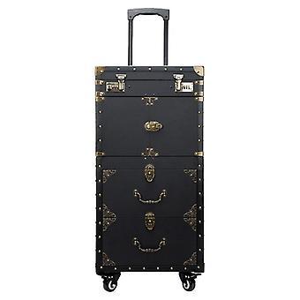 Duży wózek wózek kosmetyki walizka rolling bagaż, paznokcie makijaż przybornik,