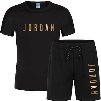 Letter gedrukt T-shirt Sports Suit Quick Dry Casual Running Pak voor paar