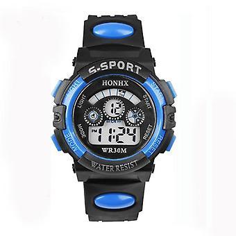 Mode og luksus vandtæt digital led Quartz Alarm Dato Sports Wrist