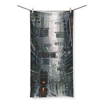 The city beach towel
