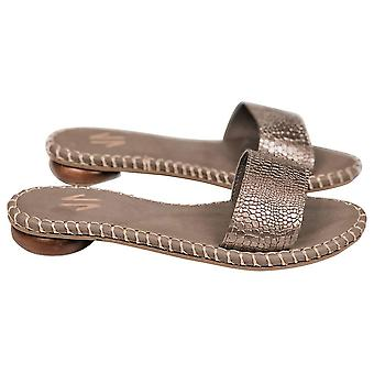 Platte sandalen Silvia Cobos Toro Zilver