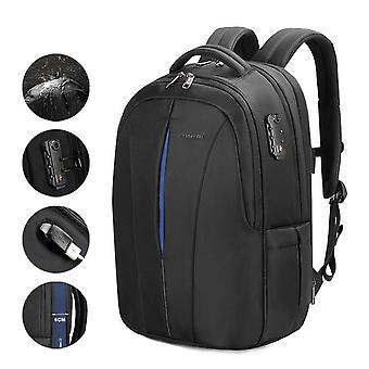 Splashproof 15.6inch Laptop Backpack, No Key, Tsa Anti Theft Men Backpack