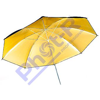 "Phot-r 33""/84cm black & gold studio umbrella reflective diffuser for professional portrait photogr"