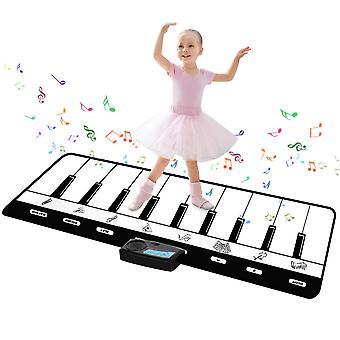 Twfric music mat for kids, dance mats for children kids piano mat musical play mat music carpet for