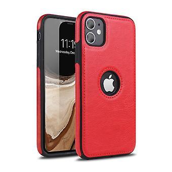 Pehmeä iskunkestävä PU-nahkasuojakotelo Apple iPhone 11 Prolle (5,8) Punainen