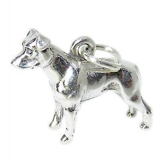 Pit Bull Dog Sterling Silver Charm .925 X1 Pitbulls Pitbull Dogs Charms - 8481