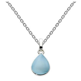 Dew Silver Pear Shape Blue Mother Of Pearl Pendant 9061BMP016