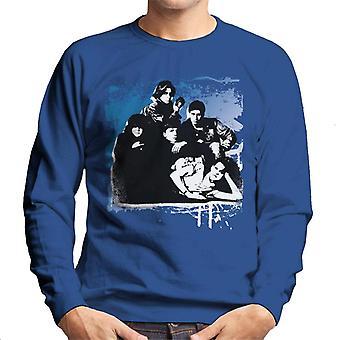 The Breakfast Club Characters Together Brush Stroke Men's Sweatshirt