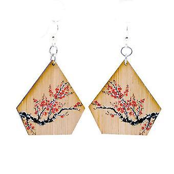 Čerešňové kvitnúce bambusové náušnice