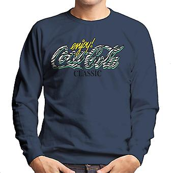 Coca Cola Classic Zebra Logo Men's Sweatshirt