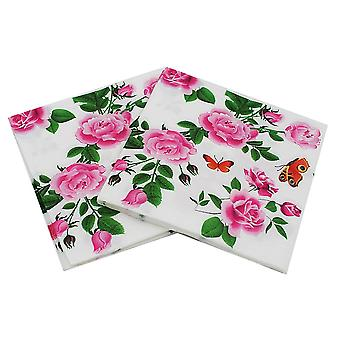 Floral Paper Napkins Flower Festive & Party Tissue