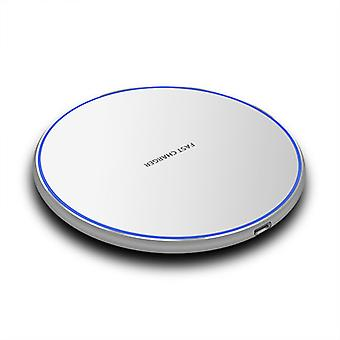 Qi Certified 10w Fast Wireless Charger, Compatible With All Smartphone Models, (qc Adapter Not Included)