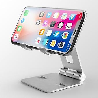 Hliníková slitina Dual Foldable Desktop Rotary Tablet Držák stojanu na mobilní telefon