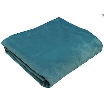 Matt duck egg blue velvet bedding set