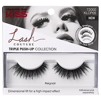 Kiss Lash Couture Triple Push-up Collection Reusable False Eyelashes - Peignoir