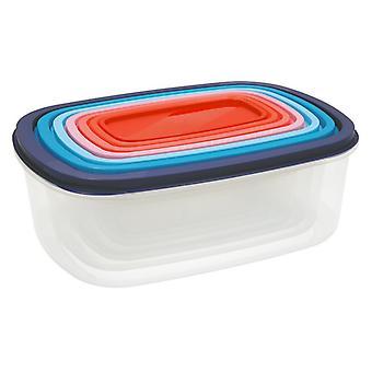 Set of lunch boxes Quid Habitat (7 pcs) Plastic