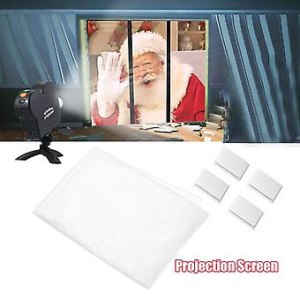 Movie Foldable Display Cloth Okno Film Projektor Ekran Boże Narodzenie Halloween