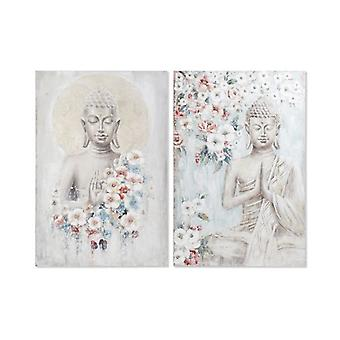 Pintura Dekodonia Buda Branca (2 pcs) (100 x 3 x 150 cm)