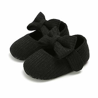 Toddler Kids Baby Pu Princess Bow Loving Heart Shoes - Crib Sole Sneaker