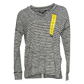 Kirkland Signature Women's Sweater Long Sleeve V Neck Black