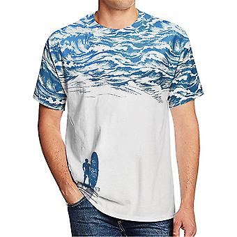 Swotgdoby Men's Printed Comfortable Short-sleeved T-shirt