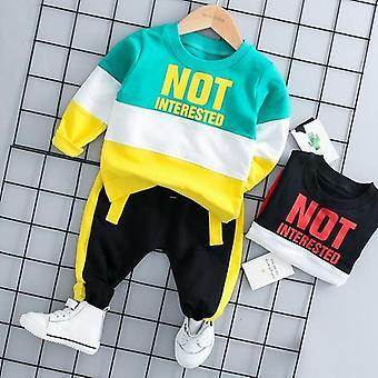 ملابس الأطفال رسالة Tracksuit يتصدر ملابس الربيع السراويل