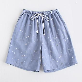 Paar Pyjamas Sommer Baumwolle Gaze Shorts