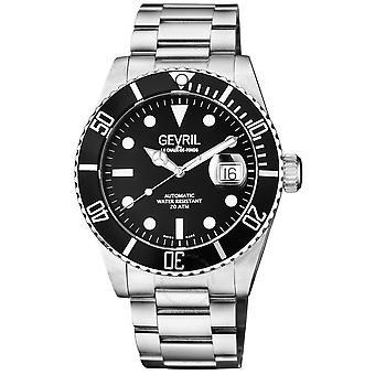 Gevril Wallstreet Automatic Black Dial Men's Watch 4858A